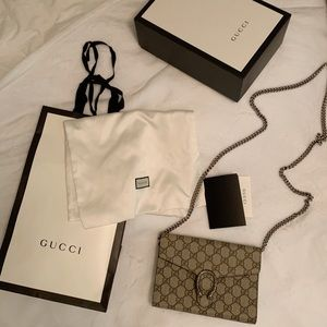 (Gucci Wallet on Chain) Dionysus GG Supreme
